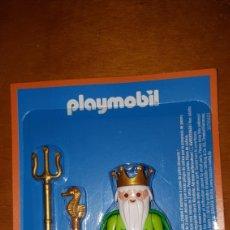 Playmobil: FIGURA PLAYMOBIL NEPTUNO POSEIDÓN AVENTURA DE LA HISTORIA EDITORIAL PLANETA BLISTER PRECINTADO NUEVO. Lote 183529865