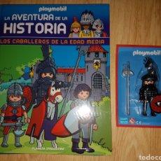 Playmobil: LOTE PLAYMOBIL LIBRO +FIGURA LOS CABALLEROS DE LA EDAD MEDIA TOMO 18 AVENTURA DE LA HISTORIA. Lote 183530233