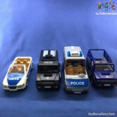 Playmobil: PLAYMOBIL - LOTE 4 COCHES POLICÍA INCOMPLETOS . Lote 183832213