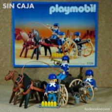 Playmobil: PLAYMOBIL REF. 3729 COMPLETA SIN CAJA, ARTILLERÌA NORDISTA, YANKEE GUERRA CIVIL SOLDADO CAÑON CARRO. Lote 184064008