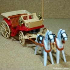 Playmobil: PLAYMOBIL CARRETA VICTORIANA CABALLOS 5600 MANSION 5300 OESTE WESTERN. Lote 207149713