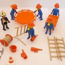 Playmobil: LOTE BOMBEROS PLAYMOBIL PRIMERA GENERACIÓN. Lote 184595848