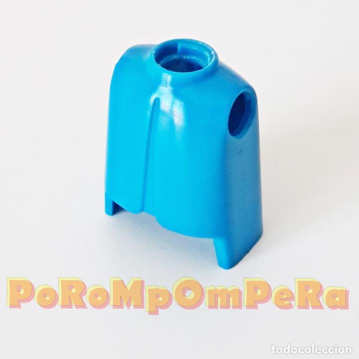 PLAYMOBIL TORSO CLÁSICO AZUL PRIMERA ÉPOCA IDEAL CUSTOM MONTAJE RECAMBIO CUERPO REPUESTO (Juguetes - Playmobil)