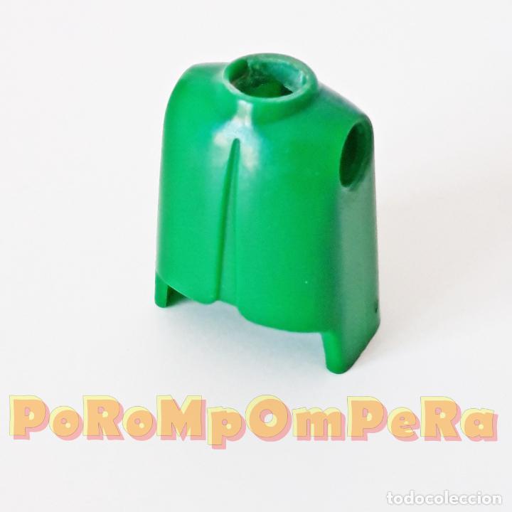 PLAYMOBIL TORSO CLÁSICO VERDE PRIMERA ÉPOCA IDEAL CUSTOM MONTAJE RECAMBIO CUERPO REPUESTO (Juguetes - Playmobil)
