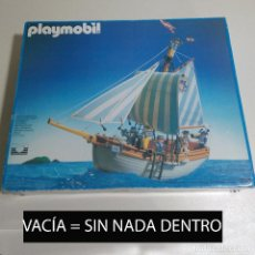 Playmobil: CAJA VACIA BARCO GOLETA PLAYMOBIL 3740-RF ANTIGUO AÑOS 90 BARCO VICTORIANA. Lote 186358981