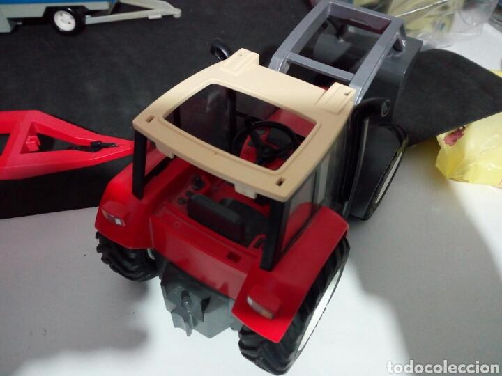 Playmobil: PLAYMOBIL. TRACTOR CON REMOLQUE PARA TRONCOS DE ARBOLES - Foto 4 - 135793589