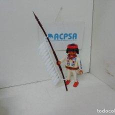 Playmobil: PLAYMOBIL INDIO CON LANZA. Lote 188430015