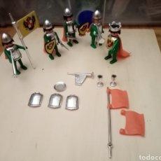 Playmobil: PLAYMOBIL MEDIEVAL ANTIGUO CROMADO CASTILLO PRIMERA GENERACIÓN LOTE. Lote 188690142
