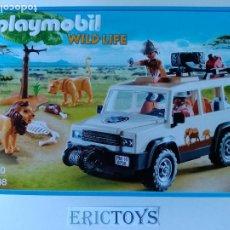 Playmobil: PLAYMOBIL 6798 JEEP SAFARI CON LEONES - WILD LIFE - ERICTOYS. Lote 188739855