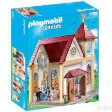 Playmobil: PLAYMOBIL IGLESIA BODA NOVIOS CASA VICTORIANA 5053 REGALO BODAS NUEVO EN CAJA SIN ABRIR. Lote 189432748