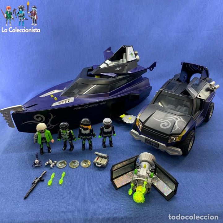 playmobil  lote de vehículos top agents  ref  vendido