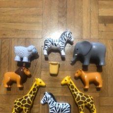 Playmobil: LOTE DE ANIMALES PLAYMOBIL ARCA DE NOÉ ELEFANTE CEBRA LEON JIRAFA OVEJA. Lote 189783395