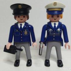 Playmobil: PAREJA POLICIA PLAYMOBIL AGENTE OFICIAL CONTROL SEGURIDAD INSPECTOR. Lote 190571807