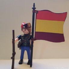 Playmobil: PLAYMOBIL SOLDADOS HISTORIA MUJER REPUBLICANO MILICIANO FAI CNT GUERRA CIVIL ESPAÑOLA ABANDERADO. Lote 228198115