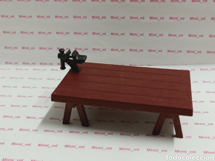 PLAYMOBIL MESA TRABAJO TORNILLO BANCO PATAS CABALLETE CARPINTERO TALLER (Juguetes - Playmobil)