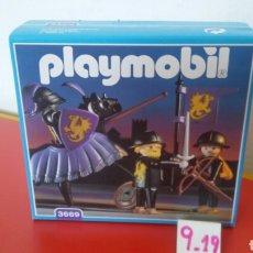 Playmobil: CABALLERO NEGRO Y ESCUDEROS REF.3669.PLAYMOBIL MEDIEVAL 1993.NUEVO EN CAJA SIN ABRIR.. Lote 191097633