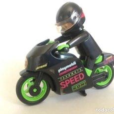 Playmobil: PLAYMOBIL PILOTO CARRERA MOTO MOTORISTA CIRCUITO MOTOCICLISTA. Lote 284724448