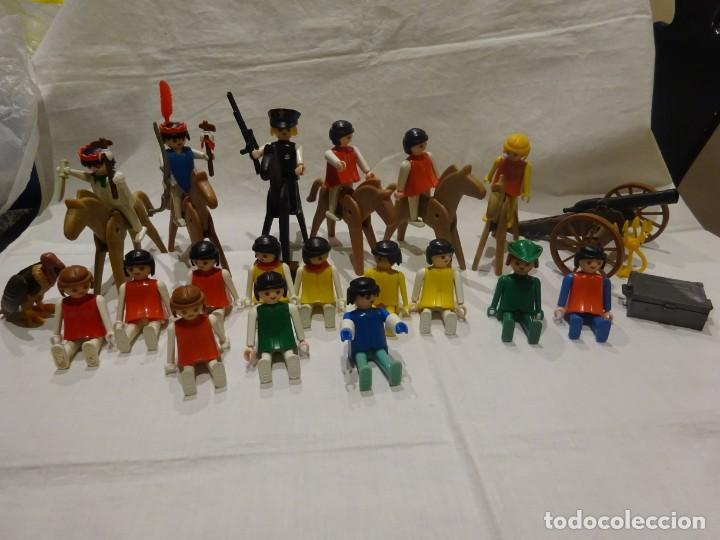 LOTE PLAYMOBIL FIGURAS OESTE, MEDIEVAL Y OTROS, GEOBRA 1974 (Juguetes - Playmobil)