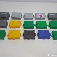 Playmobil: LOTE CAJA MALETA VARIADO PLAYMOBIL TALLER JEEP DAKAR GASOLINERA RALLY MECANICO. Lote 192642782