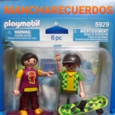 Playmobil: PLAYMOBIL 5929 DUO PACK SKATER MONOPATIN AÑO 2010 EQUIPO PATINADORES SKATEBOARDERS NUEVO PLAYMOVIL. Lote 192683943