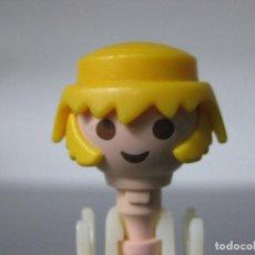 Playmobil: PLAYMOBIL CABEZA, PELO Y PATILLAS RUBIO, LAS 3 COSAS. Lote 294152483