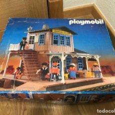 Playmobil: PLAYMOBIL REF: 3770 ESTACION COLORADO SPRINGS OESTE WESTERN TREN EN CAJA 1988. Lote 193270177