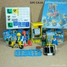 Playmobil: PLAYMOBIL 3231 COMPLETO SIN CAJA, CABINA TELEFÓNICA Y CORREOS, CARTEROS CIUDAD KLICKY PRIMERA ÉPOCA. Lote 193376932