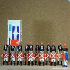 Playmobil: PLAYMOBIL 11 SOLDADOS INGLESES, CASACAS ROJAS COLONIAL EJERCITO. Lote 193453603