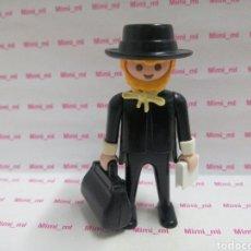 Playmobil: PLAYMOBIL FIGURA PASTOR IGLESIA PROFESOR COLEGIO VICTORIANO SERIE ROSA LAZO BOLSO LIBRO BLANCO. Lote 194227150