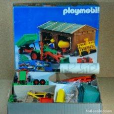 Playmobil: PLAYMOBIL 3554 COMPLETO CON CAJA, TRACTOR DE GRANJA CON GARAJE STECK. Lote 194250251
