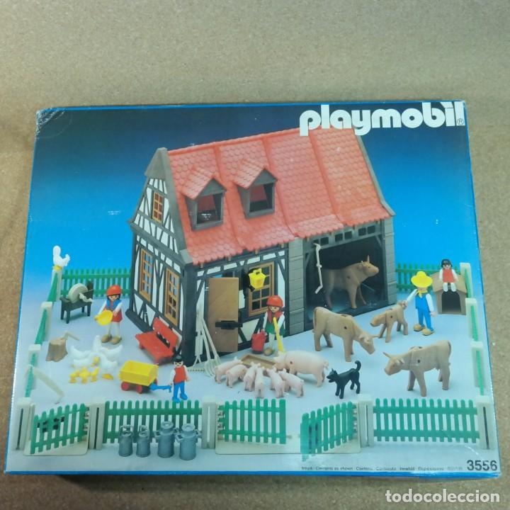 Playmobil: Playmobil 3556 completo con caja, granja medieval steck oeste western animales casa - Foto 12 - 194255470