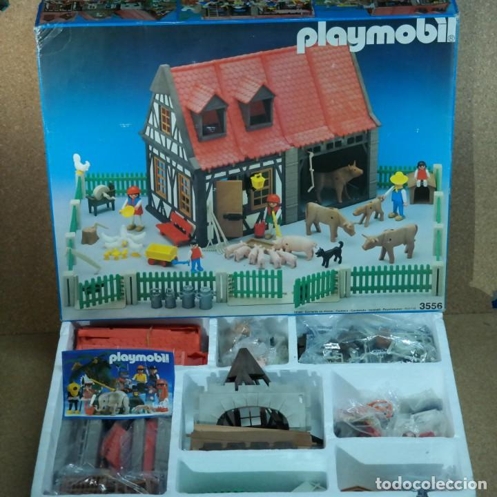 PLAYMOBIL 3556 COMPLETO CON CAJA, GRANJA MEDIEVAL STECK OESTE WESTERN ANIMALES CASA (Juguetes - Playmobil)
