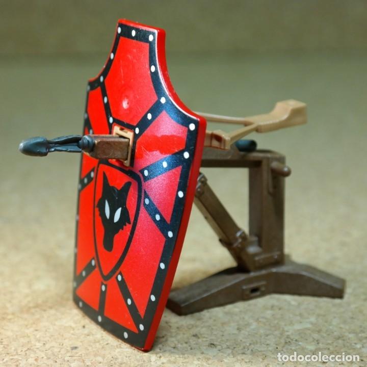 PLAYMOBIL BALLESTA MEDIEVAL, LOBO CASTILLO ARMAS ARMA (Juguetes - Playmobil)