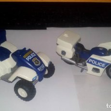 Playmobil: LOTE DE 2 MOTOS DE POLICIA DE PLAYMOBIL. Lote 194361341