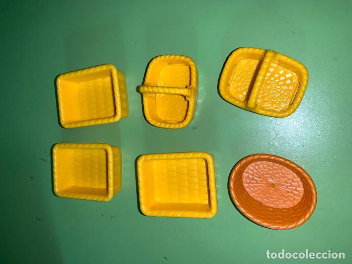 LOTE CESTOS CANASTOS VARIOS COLORES AMARILLOS (Juguetes - Playmobil)