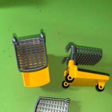 Playmobil: LOTE CARROS DE COMPRA AMARILLOS SUPERMERCADO . Lote 194530325