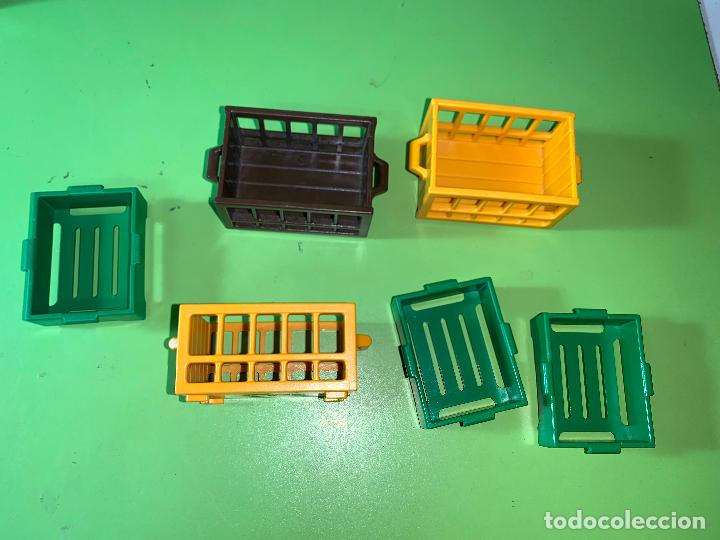 LOTE CAJA COMPRA MERCADO COMPRAS VERDE AMARILLA (Juguetes - Playmobil)