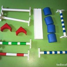Playmobil: LOTE BARRERA EQUITACIÓN COMPETICIÓN SALTÓ CABALLO. Lote 194537166