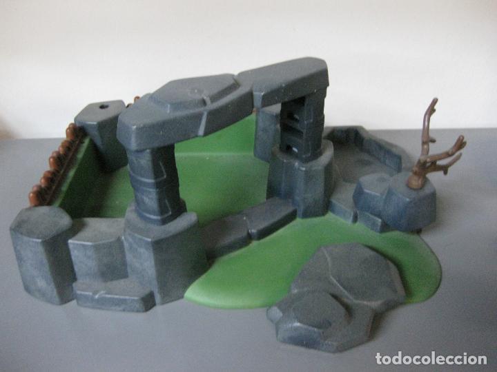 PLAYMOBIL ESCENARIO VIKINGO FORTALEZA EMBOSCADA ROCA DIORAMA (Juguetes - Playmobil)