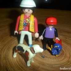 Playmobil: PLAYMOBIL - LOTE MADRE Y NIÑO + PERRO + CONO CHUCHES. Lote 194619055