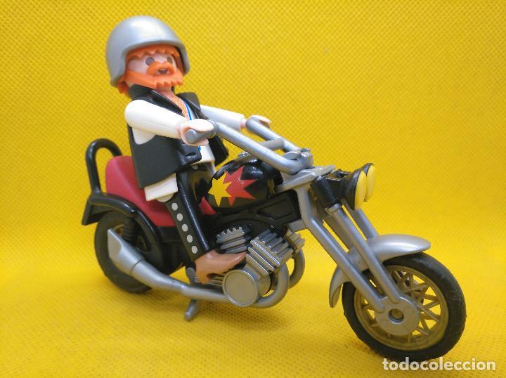 PLAYMOBIL MOTORISTA CON CHOPPER REF 3831 (Juguetes - Playmobil)