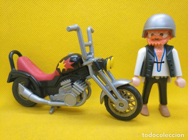 Playmobil: Playmobil Motorista con Chopper REF 3831 - Foto 4 - 194897402
