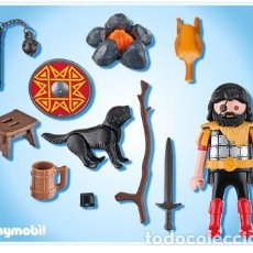 Playmobil: PLAYMOBIL GUERRERO MEDIEVAL BÁRBARO CON PERRO Y ACCESORIOS REF 4769. Lote 194906333