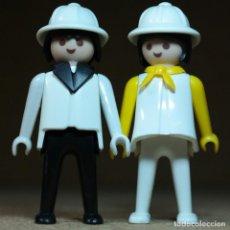 Playmobil: PLAYMOBIL PAREJA EXPLORADORES, FIGURAS MANOS-FIJAS PRIMERA ÉPOCA KLICKY SAFARI EXPEDICIÓN. Lote 194906798
