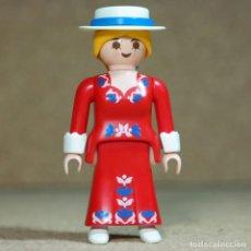 Playmobil: PLAYMOBIL MUJER VICTORIANA VENDEDORA DE SOMBREROS, PUESTO MERCADO MANSIÓN 5300 5345. Lote 194906828