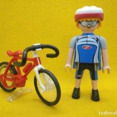 Playmobil: PLAYMOBIL CICLISTA CON CASCO. Lote 194908721