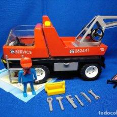 Playmobil: PLAYMOBIL CAMIÓN GRÚA CON ACCESORIOS REF 7296. Lote 194908845