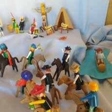 Playmobil: MUÑECOS PLAYMOBIL CAMPAMENTO INDIO MUCHOS DETALLES GEOBRA 1974 VER FOTOS. Lote 194943506