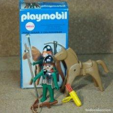 Playmobil: PLAYMOBIL 3333 COMPLETO CON CAJA, CABALLERO ARQUERO MEDIEVAL CON CABALLO KLICKY PRIMERA ÉPOCA. Lote 195059316