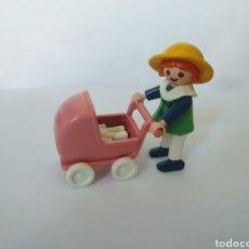 Playmobil: PLAYMOBIL MEDIEVAL NIÑA CON CARRITO Y MUÑECO CASA VICTORIANA. Lote 195084911